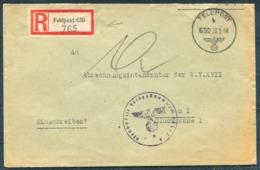 1943 Germany Einschreiben Feldpost Brief / Registered Fieldpost Cover - Wien - Germany