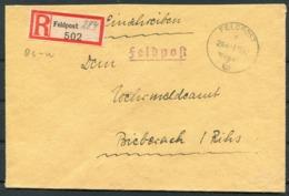1942 Germany Einschreiben Feldpost Brief / Registered Fieldpost Cover - Biberach - Germany