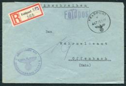 1942 Germany Einschreiben Feldpost Brief / Registered Fieldpost Cover - Wehrmeldeamt Offenbach - Germany