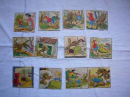 Lot De 12 Images Histoire Du Petit Chaperon Rouge Complète - Documentos Antiguos