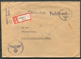 1942 Germany Einschreiben Feldpost Brief / Registered Fieldpost Cover - Offenbach - Germany