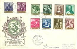 Spain 1963 Painting (VII): José De Ribera; Day Of The Stamp, Mi 1384-1393, FDC - 1931-Oggi: 2. Rep. - ... Juan Carlos I
