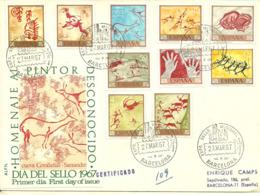 Spain 1967 Painting (XI): Prehistoric Rock Painting; Day Of The Stamp, Mi  1665-1674, FDC - 1931-Oggi: 2. Rep. - ... Juan Carlos I