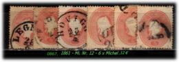 Österreich - Lombardei - Mi. Nr. 12 - 6 X In Gebraucht - Oostenrijkse Levant