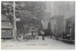 Cpa Bon Etat , Le Beausset , Rue Nationale Belle Animation , Vespasienne à Gauche,  Pas Courante - Le Beausset