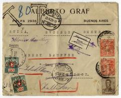 Argentinien, Buenos Aires, Nachgebühr Schweiz, Werbung - Covers & Documents
