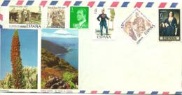 Spain 1977 Military Uniforms, King Jacob I, , And More Mi  2277, 2281, 2283, 2326, 2331 Ib Cover Not Cancelled - 1931-Hoy: 2ª República - ... Juan Carlos I