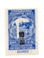 CROATIA, ZAGREB, 1940? FOOTBALL ASSOCIATION, POSTER STAMP, 10 DIN - Croatia