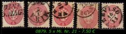 Österreich - Lombardei - Mi. Nr. 21 In Gebraucht - Farben / Stempel - Oriente Austriaco