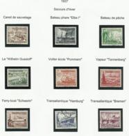 Allemagne N° 594 à 602 De 1937 - Bateau - Ohne Zuordnung