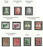 Allemagne N° 543 544 545 546 557 558 562 563 532 à 534 De 1935 - Alemania