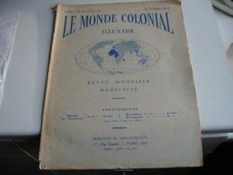 Gerbault A La Reunion  Algerie  Madagascar Guyane  Types Moeus Benin  Tonkin Hanoi  Le Monde Colonial 1928 - Livres, BD, Revues