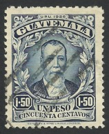 Guatemala, 1.50 P., 1926, Sc # 224, Used. - Guatemala
