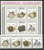 AZERBAIJAN  1994  MINERALS SET &  SHEET  MNH - Minerals