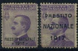 1917 Italia, Francobolli Prestito Nazionale , Non Ben Conservati - Mint/hinged