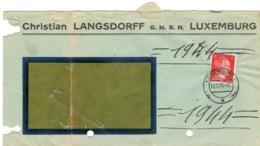 Lettre Luxembourg Christian Langsdorff Occupation 1944 - Autres
