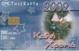 GRECIA. NAVIDAD - CHRISTMAS. Calendar 2002. 11/2001. X1361. (081). - Natale