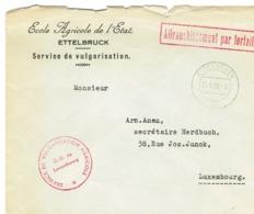 Lettre Ettelbruck (Ecole Agricole De L`Etat.) - Autres