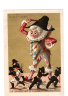 Chromo Imp. Appel, 2-1-42, Policinelle, Marionettes, Au Petit St, Thomas - Chromo