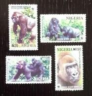 Nigeria 2008; WWF Fauna & Animals; Mammals; Monkey Gorilla; MNH, Neuf**, Postfrisch; - Azerbaïjan
