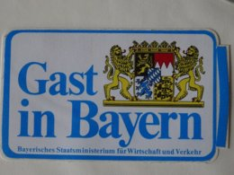 Blason écusson Adhésif Autocollant Sticker Coat Of Arms; Aufkleber Wappen  Gast In Bayern - Obj. 'Remember Of'