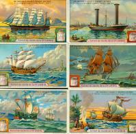 LIEBIG : S_1202 : Navires à Voiles à Travers Les âges - Zonder Classificatie