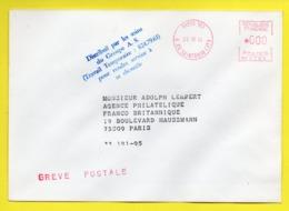GREVE POSTALE : DISTRIBUE PAR GROUPE A.S. TRAVAIL TEMPORAIRE PARIS RUE DE SAINTONGE / 1974 - Strike Stamps
