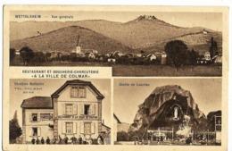 "WETTOLSHEIM Restaurant & Boucherie-Charcuterie ""A La Ville De Colmar"" Ed. Gassmann - Sonstige Gemeinden"