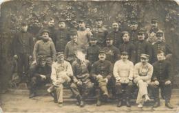 PARIS - Pompiers, Caserne De La Rue Du Vieux Colombier, Carte Photo En 1918. - Firemen