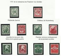Allemagne N° 509 510 511 512 522 523 528 529 530 531 De 1934 - 1935 - Deutschland
