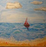 Tableau Peinture Acrylique Voilier Sur L'océan - Other