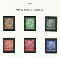 Allemagne N° 503 à 508 Oblitérés De 1934 - Deutschland