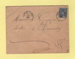 Convoyeur - Le Teil A Nimes - 1891 - Type Sage - Poststempel (Briefe)