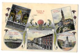 Recuerdo De Zaragoza Catedral De La Seo Estatua Pignatelli Calle Del Coso Puente Colgante Sobre El Gallego 1929 - Zaragoza