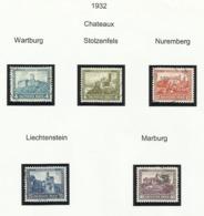 Allemagne N° 462 à 466 Oblitérés De 1932 - Germany