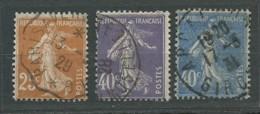 FRANCE: Obl., N° YT 235 à 237, TB - 1906-38 Semeuse Camée