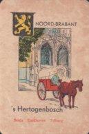 1 Oude Speelkaart Uit Steden Kwartet : Noord-Brabant : 's Hertogenbosch (paard En Kar) - Cartes à Jouer