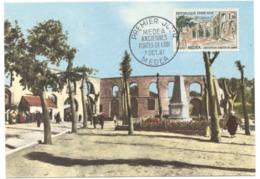 Carte Maximum France 1961 -  Medea Anciennes Portes De Lodi -  YT 1318 - Medea - Maximum Cards
