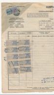 ALGERIE - FISCAUX 20F Type Médaillon De Daussy X 11 Ex (Compagnie Générale Transatlantique - 1949) Sur Doc Entier - Otros