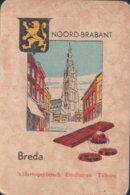 1 Oude Speelkaart Uit Steden Kwartet : Noord-Brabant : Breda - Speelkaarten