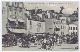 CPA  BELLE-ISLE-EN-MER  -  Le Palais  -  Touristes Arrivant De Quiberon - Belle Ile En Mer
