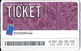 TICKET MVB STB BRUXELLES BELGIQUE - Europa