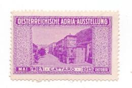 1913 AUSTRIA, AUSTRIAN ADRIATIC, VIENNA EXHIBITION, KOTOR, CATARO, MONTENEGRO, POSTER STAMP, DIMENSIONS 3 X 4.7 Cm - 1850-1918 Empire