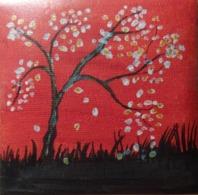 Tableau Peinture Acrylique -Arbre Au Printemps - Creative Hobbies
