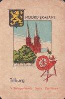1 Oude Speelkaart Uit Steden Kwartet : Noord-Brabant : Tilburg ( Spinnewel ) - Speelkaarten