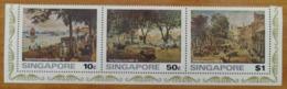 Singapour: Yvert N° 253/255 (Tableaux Du Vieux Singapour, Par A.L. Watson, 1976) Neufs - Singapur (1959-...)