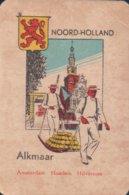 1 Oude Speelkaart Uit Steden Kwartet : Noord-Holland : Alkmaar ( Kaasmarkt ) - Cartes à Jouer