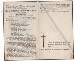MARIA-CATHARINA EERLINGS ° ELLIKOM  MEEUWEN 1884 + 1955 / JAAK DREESEN - Images Religieuses