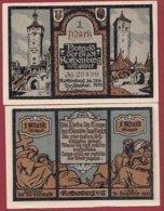 Allemagne 1 Notgeld 1 Mark Stadt Rothenburg (RARE-SERIE COMPLETE) Dans L 'état Lot N °5080 - Collections