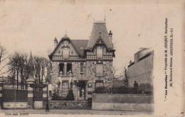 """S44-087 Argenteuil - """" Les Rocailles """" - Propriété De M. JUIGNET, Horticulteur - Cachet Commercial Au Verso - Argenteuil"""